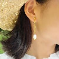 (288)flower chain & fresh water pearl
