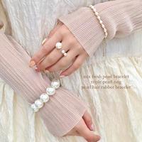 (246)mix fresh water pearl bracelet