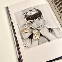 (384)bi-color ear cuff pierce