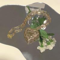 (410)heart rocket necklace