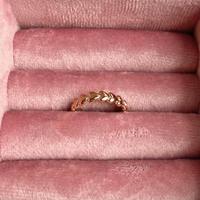 (345) pink gold tiny ring series B