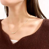 (154)silver 925 beans necklace