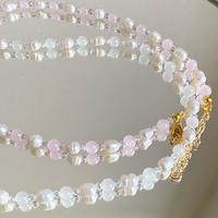 (331)konpeito glass beads necklace