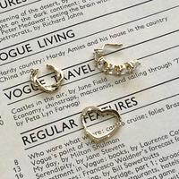 (401)heart ear cuff & pierce set