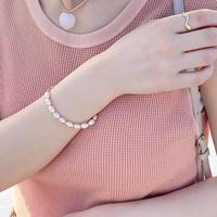 (73)fresh water pearl bracelet 【淡水パール】White/Pink
