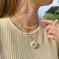 (306)heart fresh water pearl necklace