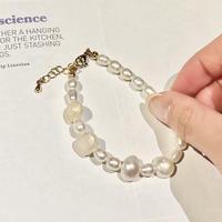(253)potato fresh water pearl bracelet