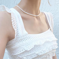 (68) fresh water pearl necklace 【淡水パール medium white】