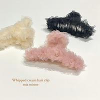 (304)Whipped cream hair clip