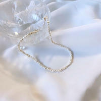 (227)fresh water pearl necklace Ragged 【淡水パール不揃い】