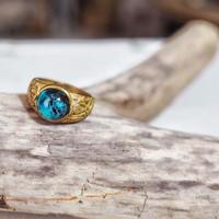 真鍮デザイン指輪💍