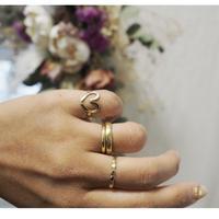 小  ハートデザイン真鍮指輪