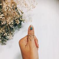 大  hand madeハートリング真鍮