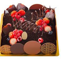 ラトリエ店にてお受取り 予約ケーキ        アントルメ ドゥショコBD 21cm×21cm