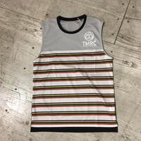 TMRC『 5C Border Mesh  Sleeve-less』(Gray_Black)