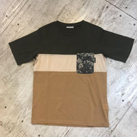 MMA 3tone Mountain Wool Pocket Tee (Green_Sand)