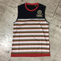 TMRC『 5C Border Mesh  Sleeve-less』(Navy_Red)