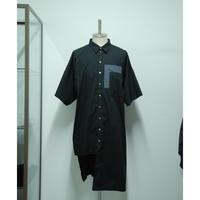 【サンプル】イレギュラーロングシャツ/ブラック