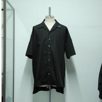 【サンプル】ハトメオープンカラーシャツ/ブラック