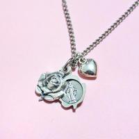 ローズメダイネックレス Rose Medal Necklace