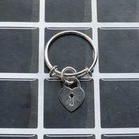 ハート型キーチャームリング/ Heart Key Charm Ring