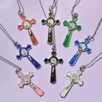 カラークロスネックレス/ Color Cross Necklace
