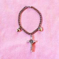 十字架ハートブレスレット/ Cross Heart Bracelet