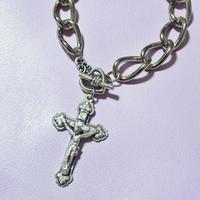 クロスビッグチェーンブレスレット/ Cross Big Chains Bracelet