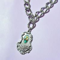 メダイフレームビッグチェーンネックレス/ Medal Flame Big Chain Necklace