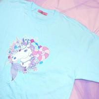 ユニコーンTシャツ(ブルー)/Unicorn T-shirt(Blue)