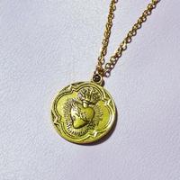 コラソンメダルネックレ(ゴールド)/ Corazon Medal Necklace(Gold)