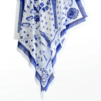 "MIFUNE Silk-Cotton SCARF, ""LAZULITE"""