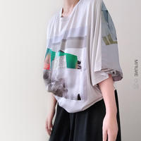 Scarf Patchwork Tee, GRAY