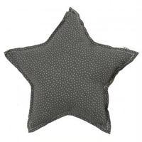 NUMERO74  Star cushion-Dark Green and stars