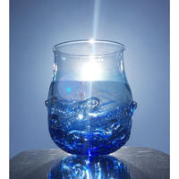 麻炭ガラス さざなみグラス 海と空の間