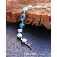 **:Turquoise*''Blue Topaz''*Fresh Water Pearl:**