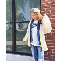 LOOP KNIT CARDIGAN (IVORY)