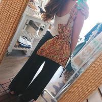 Leona(レオナ)/カットワークワイドパンツ