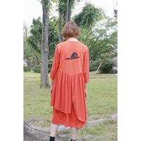 Remake T-shirt Long Dress(Orange)