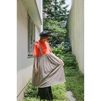 Remake T-shirt cami Dress(Brown/Border)