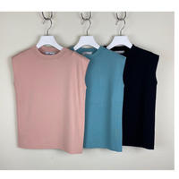 16G  stretch Stand neck knit