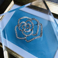 bijou rose brooch