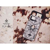 ≫  iPhoneX,XSケース(ミラー付&カード収納&耐衝撃)★FLY-BK