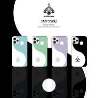 yin-yang🖤🤍design4colors/iPhoneケース(耐衝撃ハードケース/ スライドミラー/カード収納付)