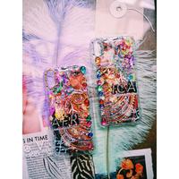1点物≫ Handmade iPhoneX,XSケース★2019-007(ゴールド)