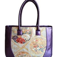 世界限定1個:人と人を繋ぐ、日本と世界を繋ぐ『西陣織バッグ【紫】』