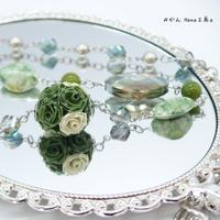 【mk104】緑好きが作った緑系のネックレス〈ロザフィ〉