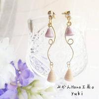 【yk302】ベルピアス 〜ピーチ〜 [イヤリングへ変更可](美乃花)