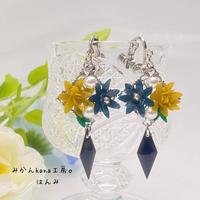 【hm305】冬色のイヤリング[ピアスへの変更可]【美乃花】