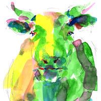 緑の牛 〈 Green cow〉